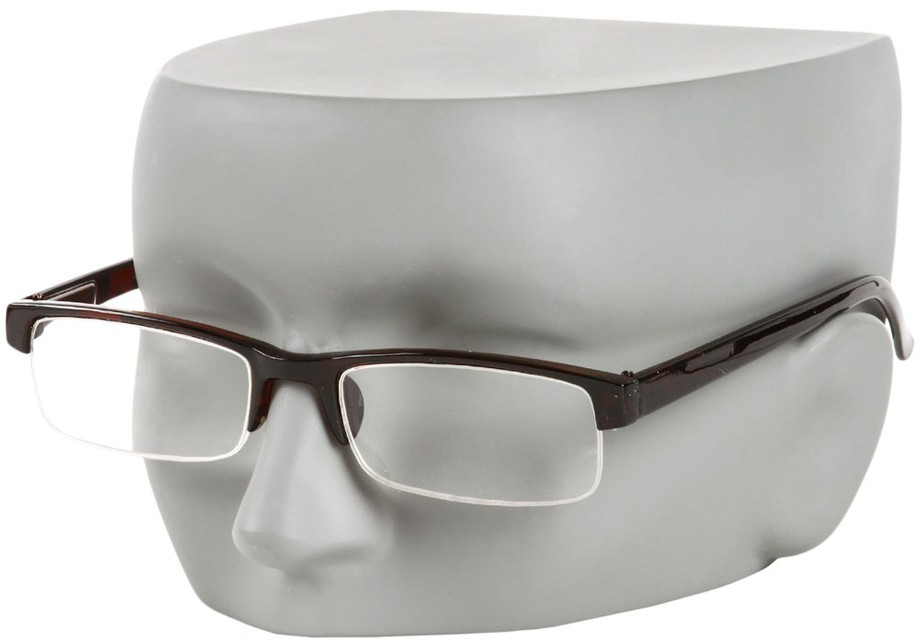 Semi-Rimless Reading Glasses with Polycarbonate Lenses
