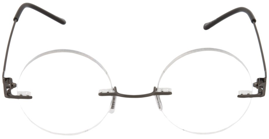 Reading Glasses No Frame : Steve Jobs Round Rimless Reading Glasses