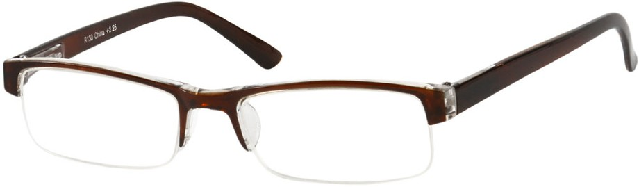Glasses Frame Repair Coventry : Semi-Rimless Reading Glasses with Polycarbonate Lenses