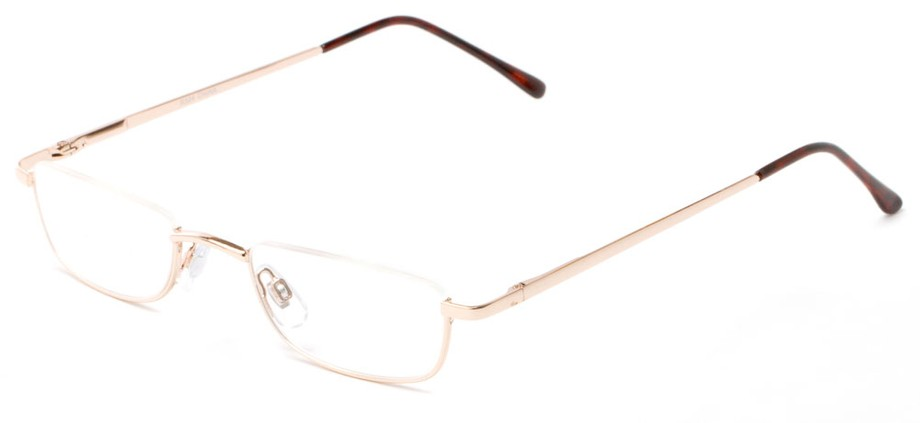 Bottom Half Semi-Rimless Metal Reader Readers.com