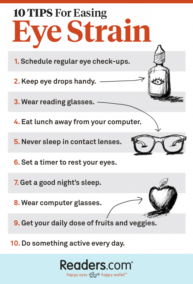 10 Tips to Ease Eye Strain