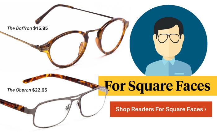 Best Glasses Frame Shape For Square Face : Glasses For Face Shape