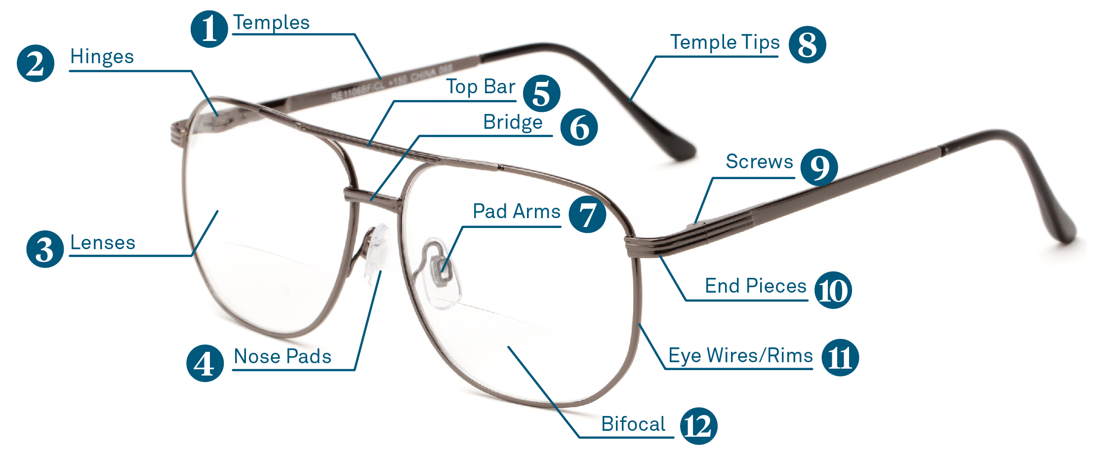 parts of an eyeglass frame