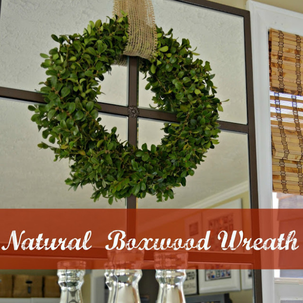 DIY Natural Boxwood Wreath