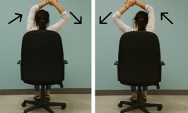 arm office desk stretch