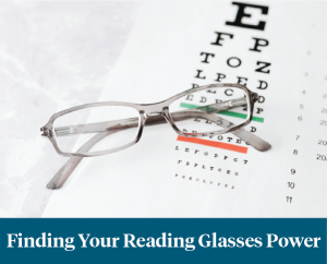 finding your reading glasses power