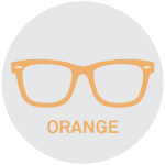 Orange Reading Glasses