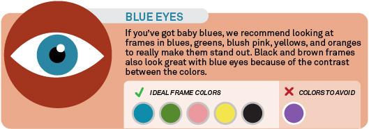 Frame colors for blue eyes