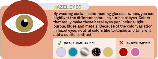 Best frame colors for hazel eyes