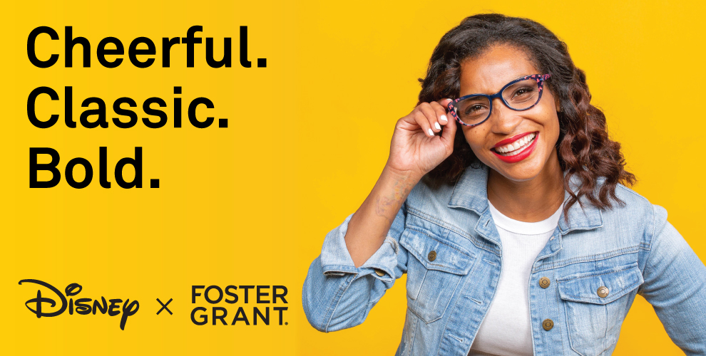 woman wearing Disney by Foster Grant glasses
