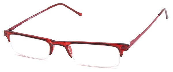 Red Half Frame Reading Glasses