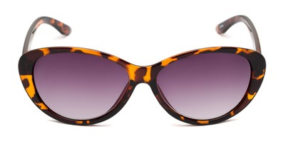 Front of The Mary Reading Sunglasses in Brown Tortoise with Smoke