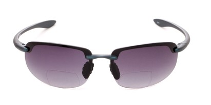 Front of The Jack Bifocal Reading Sunglasses in Black with Smoke