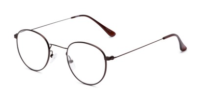 Angle of The Abraham in Bronze, Women's and Men's Round Reading Glasses