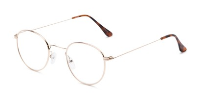 Angle of The Abraham in Gold, Women's and Men's Round Reading Glasses
