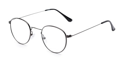 Angle of The Abraham in Grey, Women's and Men's Round Reading Glasses