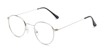 Angle of The Abraham in Silver, Women's and Men's Round Reading Glasses