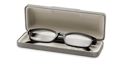 Side of Reading Glasses Case #906 in Silver