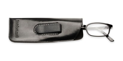 Angle of Belt Clip Pouch in Black, Women's and Men's  Soft Cases / Pouches