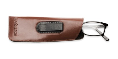 Side of Belt Clip Pouch in Brown