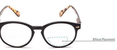 Detail of The Actor Bifocal in Black and Tortoise
