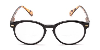 Front of The Actor Bifocal in Black and Tortoise