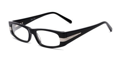 Angle of Adelaide by felix + iris in Black, Women's Rectangle Reading Glasses