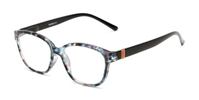 Angle of The Adele in Tortoise/Black, Women's Retro Square Reading Glasses