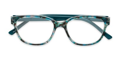 two tone retro square womens reading glasses