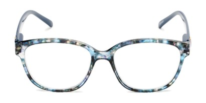 Front of The Adele in Tortoise/Blue