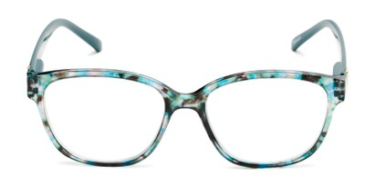 Front of The Adele in Tortoise/Teal Blue