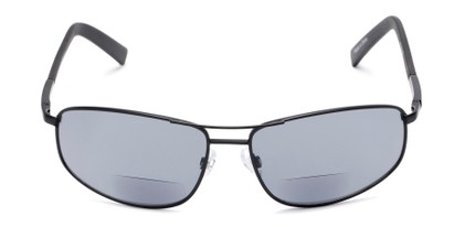 Front of The Albany Bifocal Reading Sunglasses in Matte Black with Smoke