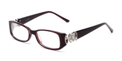 Angle of Alberta by felix + iris in Burgundy Red, Women's Rectangle Reading Glasses