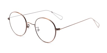 Angle of The Alchemy in Bronze, Women's and Men's Round Reading Glasses