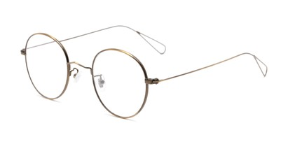 Angle of The Alchemy in Dark Gold, Women's and Men's Round Reading Glasses