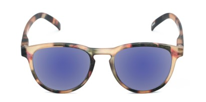 Front of The Alex Reading Sunglasses in Matte Tortoise with Blue Mirror