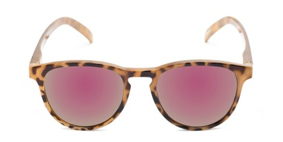 Front of The Alex Reading Sunglasses in Glossy Tortoise with Pink Mirror