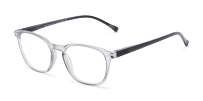 Angle of The Alistair in Matte Grey, Women's and Men's Retro Square Reading Glasses