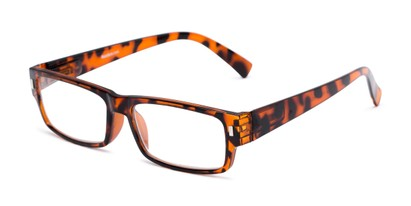 Angle of The Althorpe in Brown Tortoise, Women's and Men's Rectangle Reading Glasses