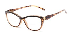 Angle of The Ambrosia Bifocal in Brown Tortoise, Women's Cat Eye Reading Glasses
