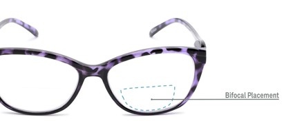 Detail of The Ambrosia Bifocal in Purple Tortoise