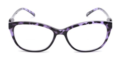 Front of The Ambrosia Bifocal in Purple Tortoise