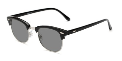 Detail of The Amos Photochromic Reader in Black/Silver with Smoke