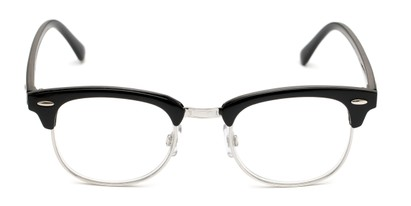 Front of The Amos Photochromic Reader in Black/Silver with Smoke