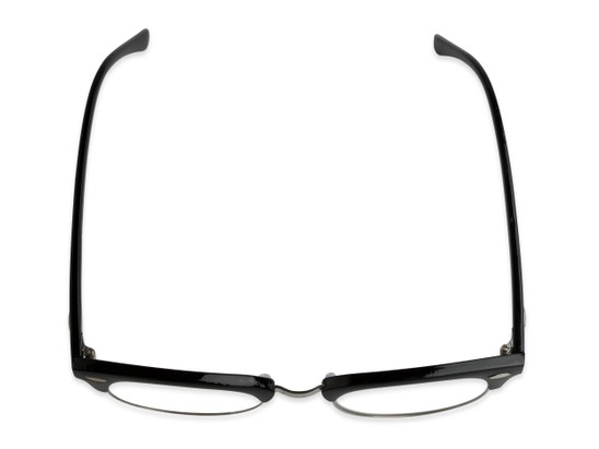 Overhead of The Amos Photochromic Reader in Black/Silver with Smoke