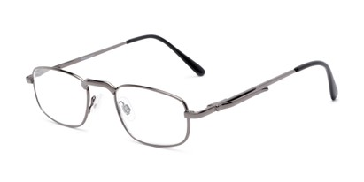 Angle of The Anderson in Grey, Women's and Men's Rectangle Reading Glasses