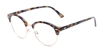 Angle of The Appleton in Grey Tortoise, Women's Browline Reading Glasses