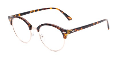 Angle of The Appleton in Tortoise, Women's Browline Reading Glasses
