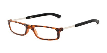 Angle of The Apricot Folding Reader in Tortoise, Women's and Men's Rectangle Reading Glasses