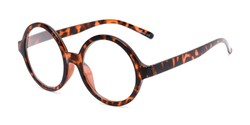 Angle of The Architect in Tortoise, Women's and Men's Round Reading Glasses